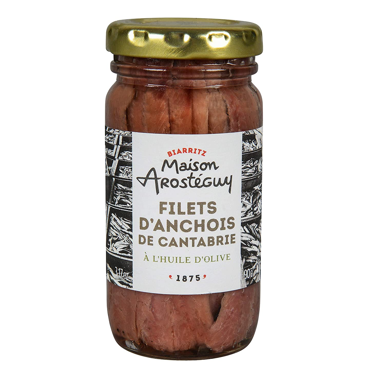 Filets d'anchois de Cantabrie à l'huile d'olive - 90 gr.