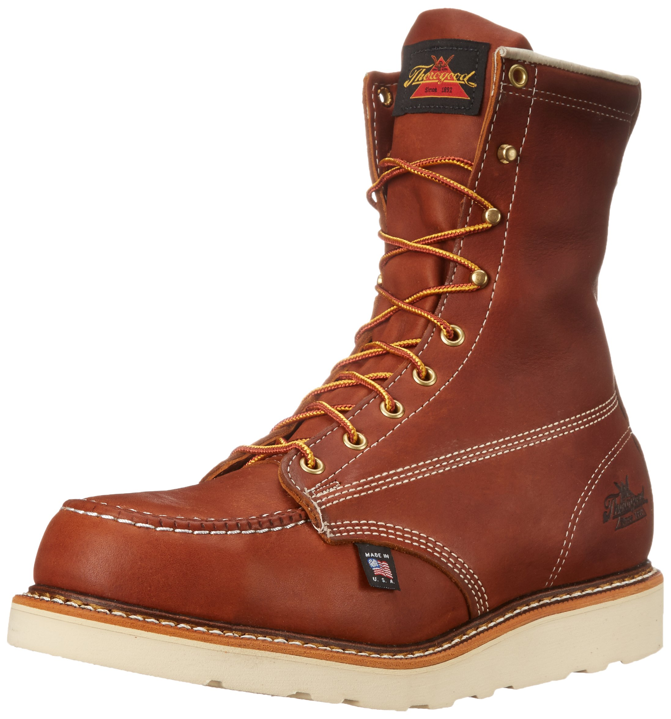 Thorogood Heritage 8'' Safety Toe Work Boot, Tobacco Oil Tanned, 11 EE US