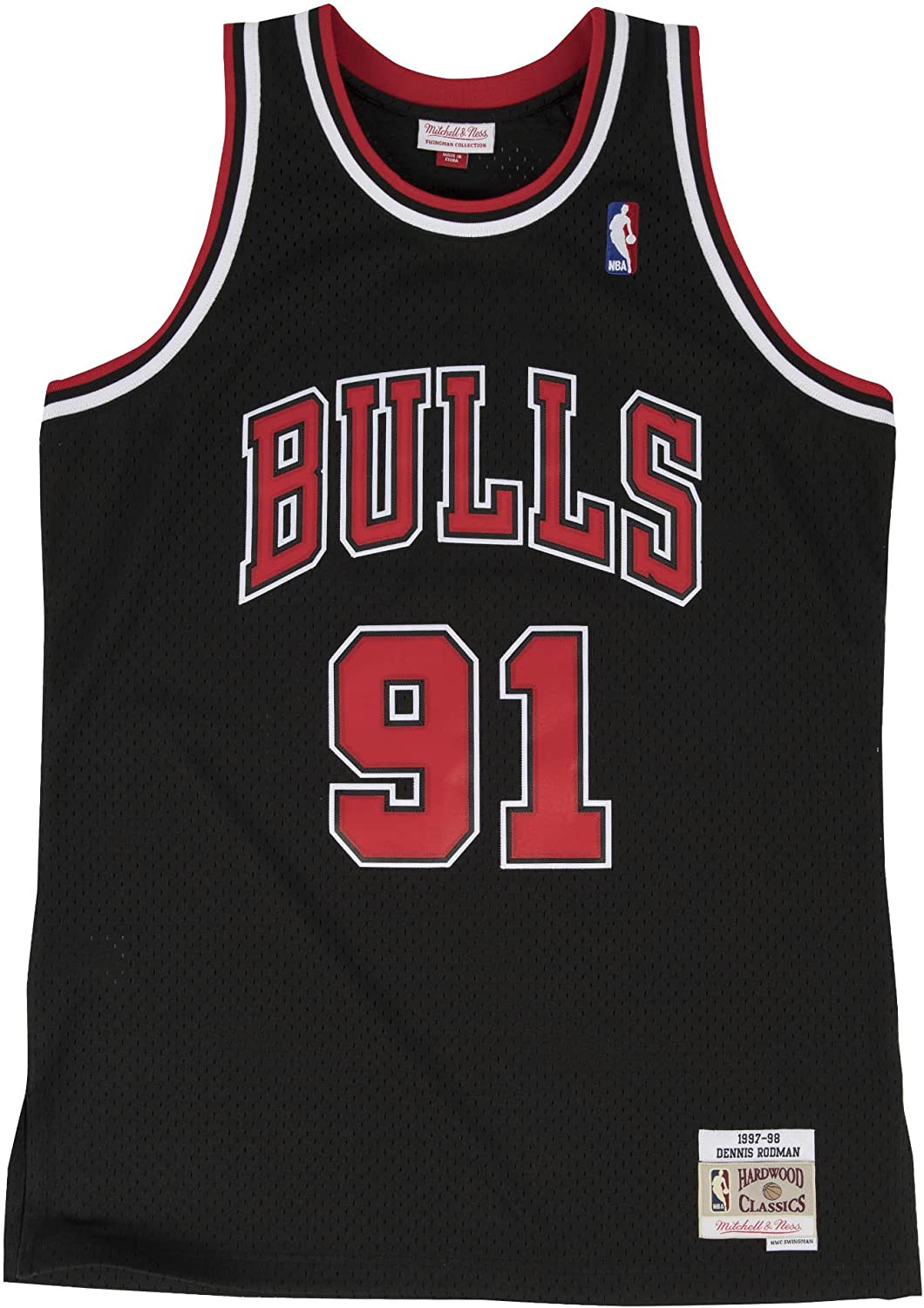 Amazon.com: Mitchell & Ness Dennis Rodman Chicago Bulls NBA ...