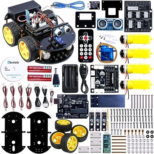 51 opinioni per Elegoo UNO R3 per Arduino Progetto di una Piccola Robot Auto Car V2.0 con