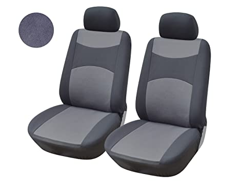 116002 Grey Fabric 2 Front Car Seat Covers Compatible To Toyota Prius C 2018 2017