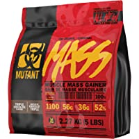 MUTANT MASS Weight Gainer Protein Powder with a Whey Isolate, Concentrate, and Casein Protein Blend, For High-Calorie Workout Shakes, Smoothies and Drinks, (2.27 Kg), Triple Chocolate
