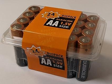 Duracell - Pilas AA, caja de 24 unidades: Amazon.es: Iluminación