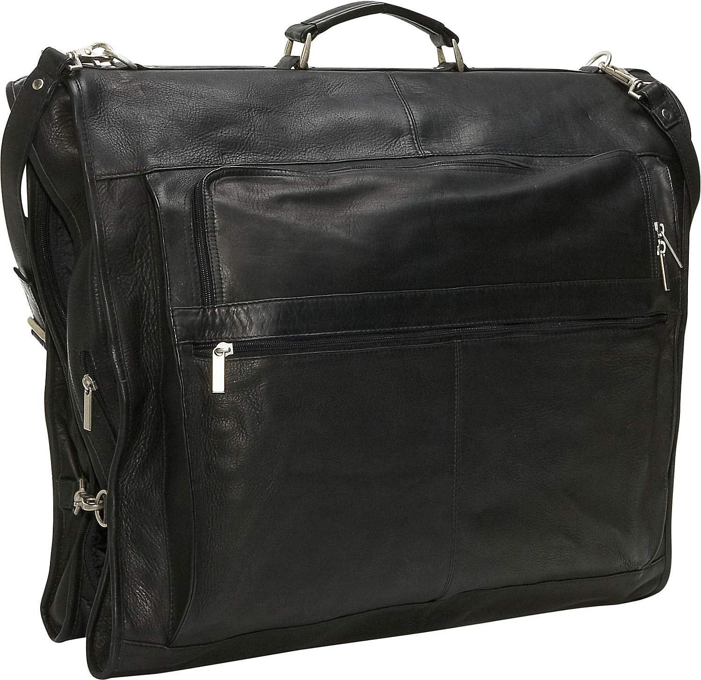 David King Leather 42 Deluxe Garment Bag in Black