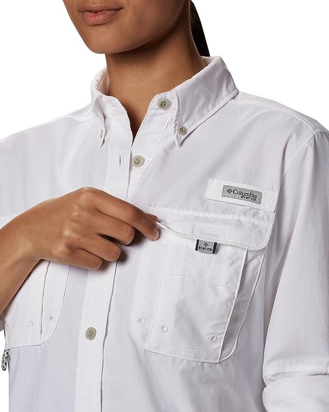 b0fa4de0131 Columbia Women's Long Sleeve Shirt, Harbor Blue, 2XL at Amazon Women's  Clothing store: