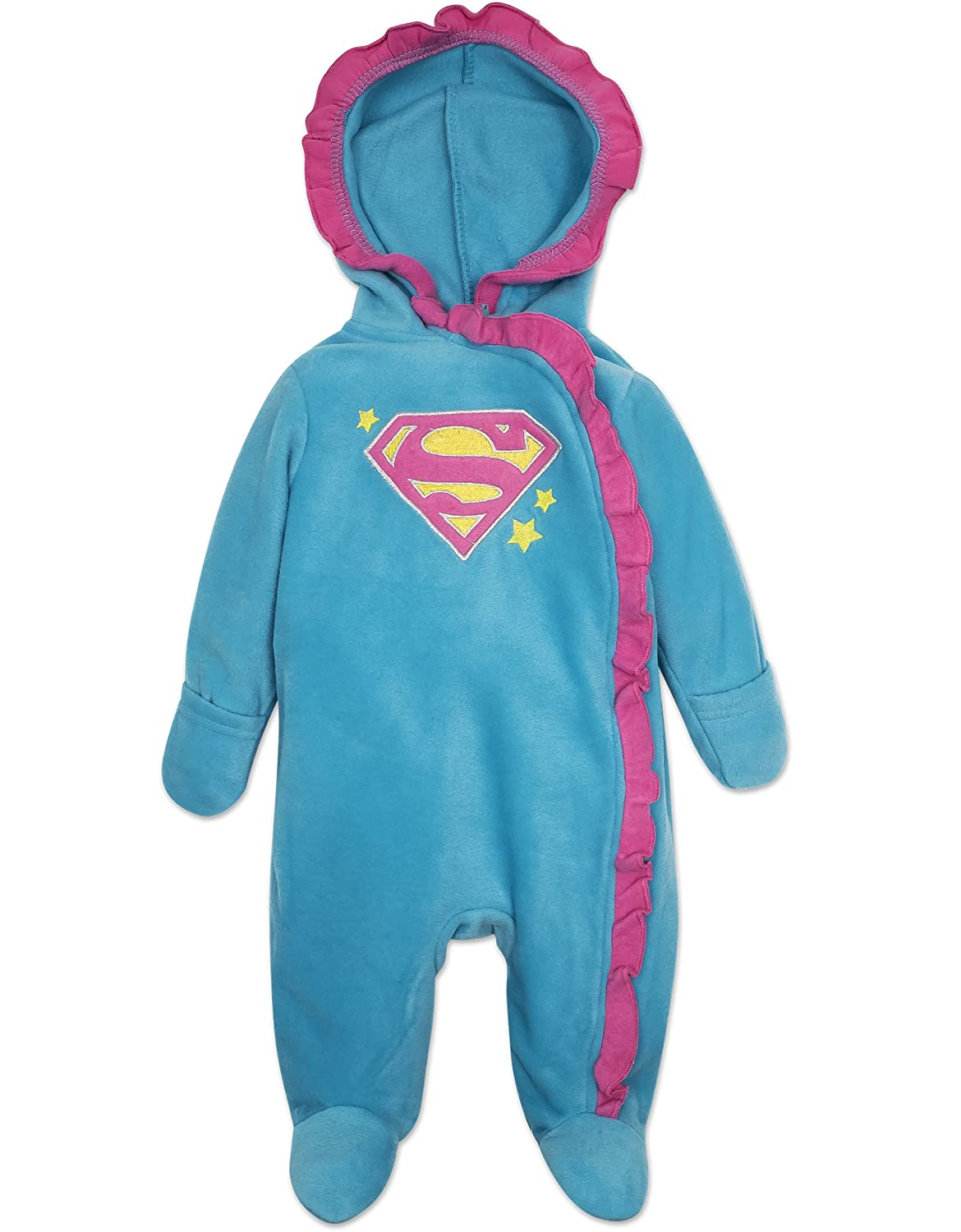 Baby Girls' Batgirl and Supergirl Pram Suit