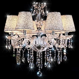 swarovski crystal lighting. Chandelier,TOPMAX 6 Light Crystal Ceiling Lamp Swarovski Lighting N