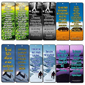041fb56ba7 Creanoso Inspirational Stay Strong Quotes Bookmarks (60-Pack) - Positive  Affirmation Sayings Cards