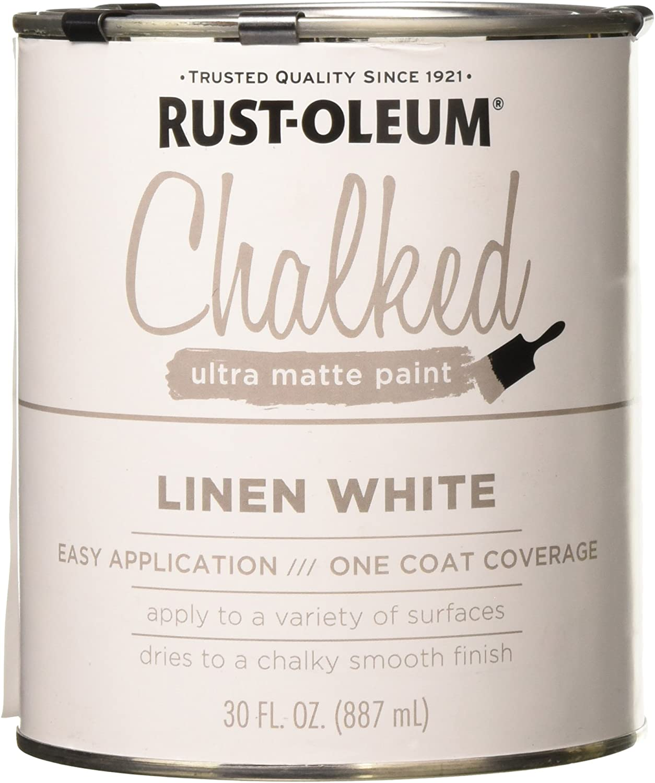 Rustoleum 285140 30 Oz Linen White Chalked Ultra Matte Paint