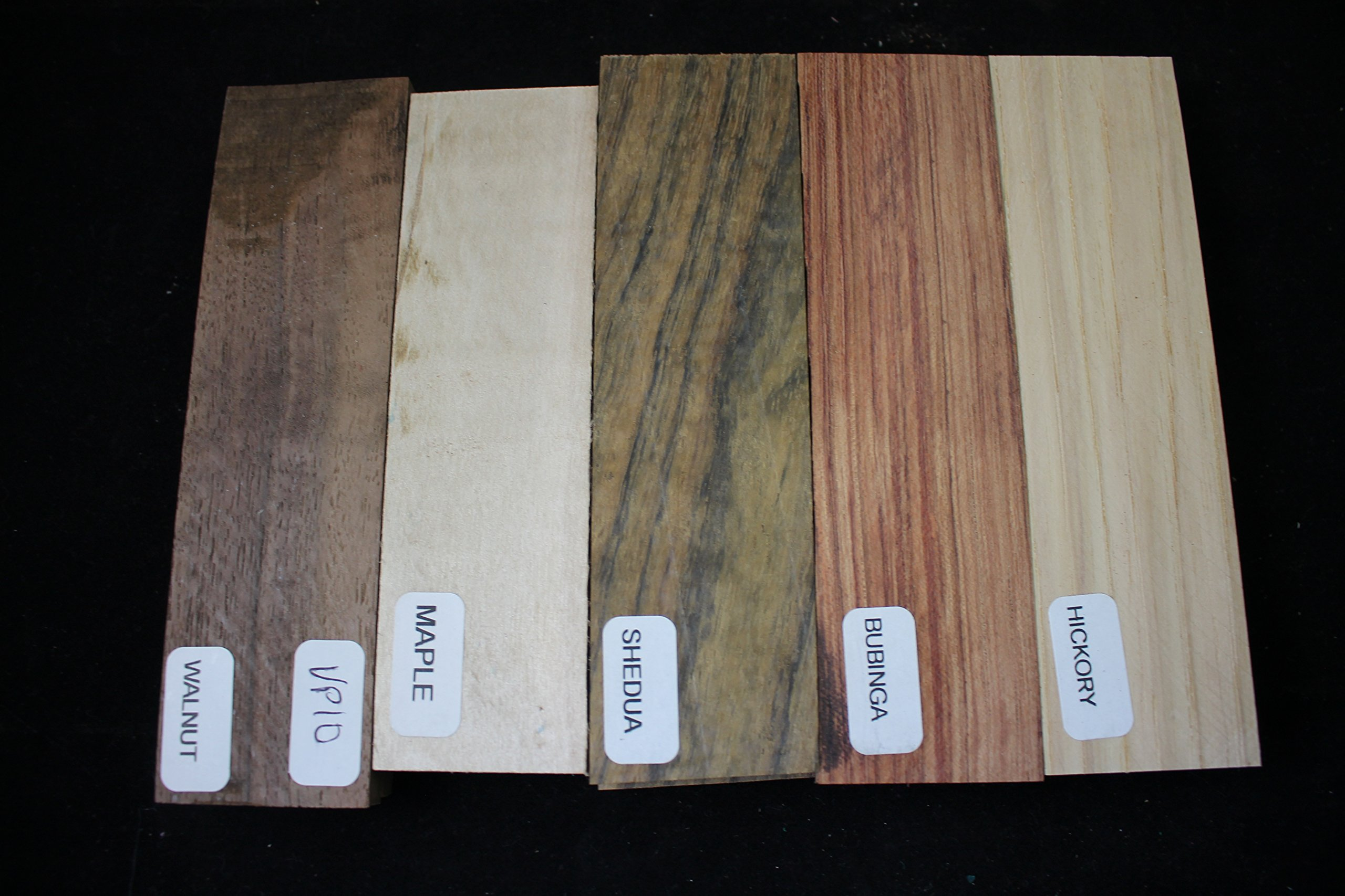 Variety Pack of 5 Wood Scales, Wood for Knife Making - Knife Handle Material - Knife Making Supplies - Payne Bros - Knives of Payne - Wood Handle Material - Untreated Wood - (JLM) (SFVP10)