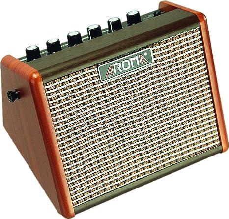 Aroma 15W Amplificador de guitarra eléctrica acústica portátil ...