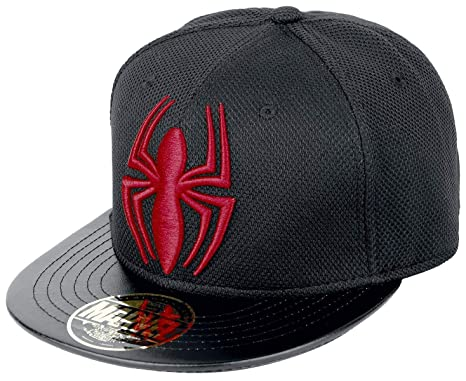 Amazon.com  Marvel Spiderman Spider and Logo Snapback Cap (Black Red ... 1eb96492a568