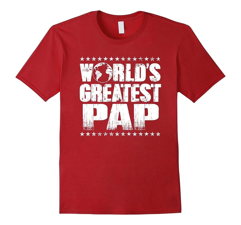 World's Greatest Pap T Shirt -Best Ever Award Gift Tee-Art
