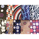 10 SHEETS OF ABSTRACT - CONTEMPORARY WRAPPING PAPER