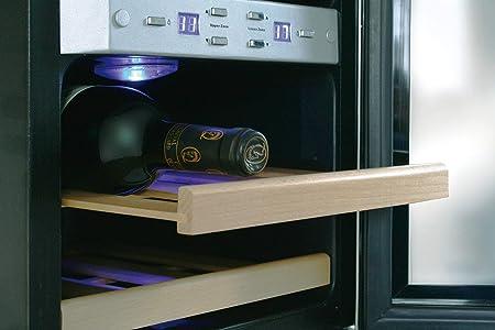 Caso Wine Duett WineDuett 12 Vinoteca, Metal, Acero Inoxidable