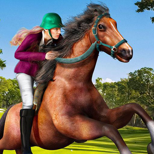 Royal Princess Horse Racing Adventure Game 3D:  World Frenzy Real Horse Riding Parking Runner Simulator Mission Free For Kids ()