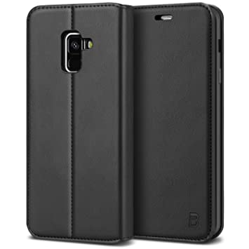 wholesale dealer da391 672b0 BEZ Case for Samsung A8 2018 Case, Flip Cover Compatible with Samsung  Galaxy A8 2018, Protective PU Leather Wallet with a Card Holder, Kick  Stand, ...