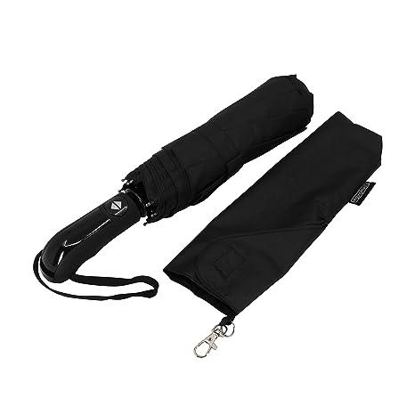 Paraguas de viaje Ergonomad con doble toldo ventilado a prueba de viento - Recubrimiento de teflón