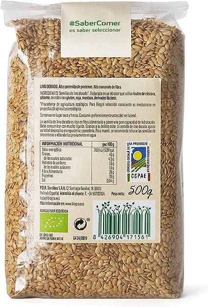 Biográ - Semillas Ecológicas de Lino Dorado (500 g): Amazon.es ...