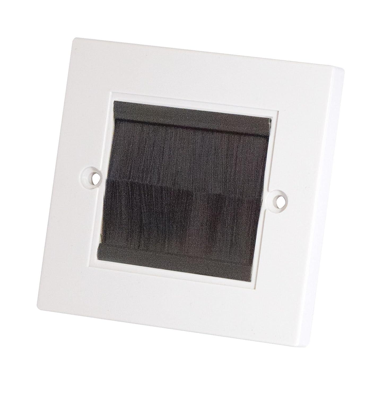 Selectric Media/Data Brush Plate 1 gang, 8.5cm square, 5cm sq aperture, SQ-5