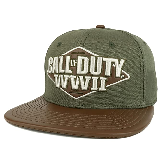 17eaee865 Armycrew Call of Duty World War II 3D Embroidered PU Flat Bill Snapack Cap