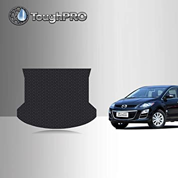 Amazon Com Toughpro Cargo Trunk Mat Accessories Compatible With Mazda Cx 7 All Weather Heavy Duty Made In Usa Black Rubber 2007 2008 2009 2010 2011 2012 Automotive