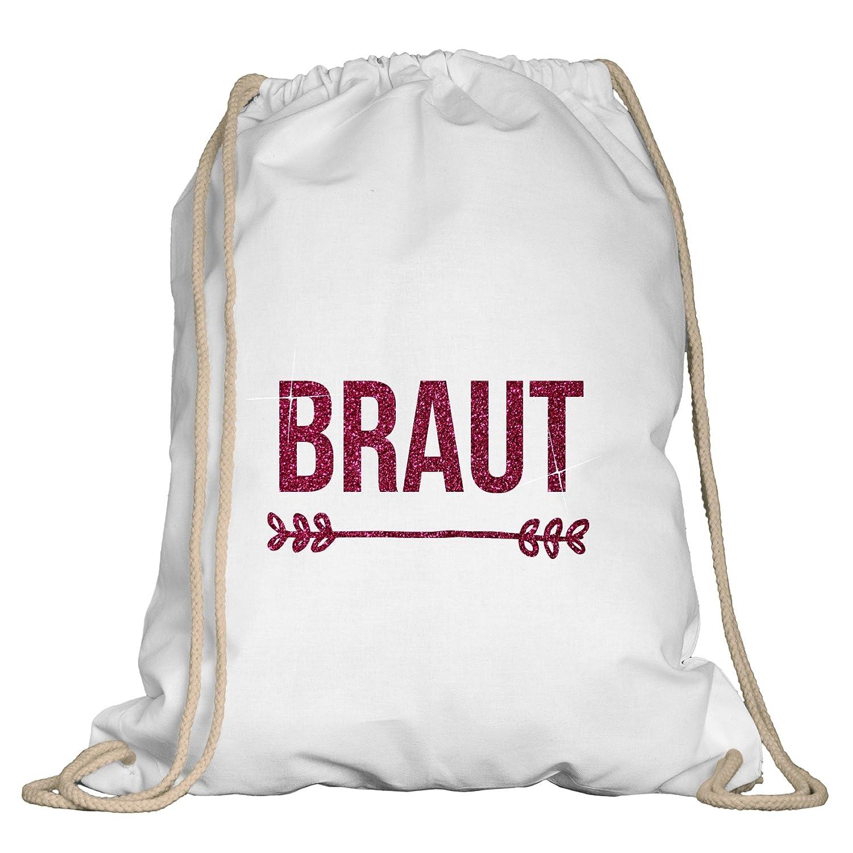 JGA Turnbeutel Braut dunkelblau-goldglitzer