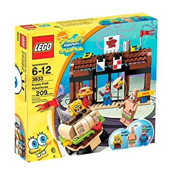 Amazon.com: LEGO SpongeBob SquarePants Krusty Krab Adventures ...
