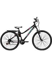 Veloci Bicicleta de Montaña Modelo Dione con Suspensión Delantera Rodado 26, 21 Velocidades Color Negro