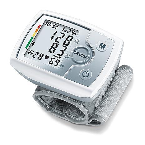 Beurer BC31 Tensiómetro muñeca, para la medición de la presión arterial, pantalla LCD, indicador OMS, detección arritmia, memoria 60 espacios, color ...