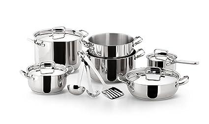 Lagostina Batteria Pentole Sfiziosa Acciaio 13 Pezzi Fondo Lagoseal®plus Batterie Di Pentole Cucina: Stoviglie E Accessori