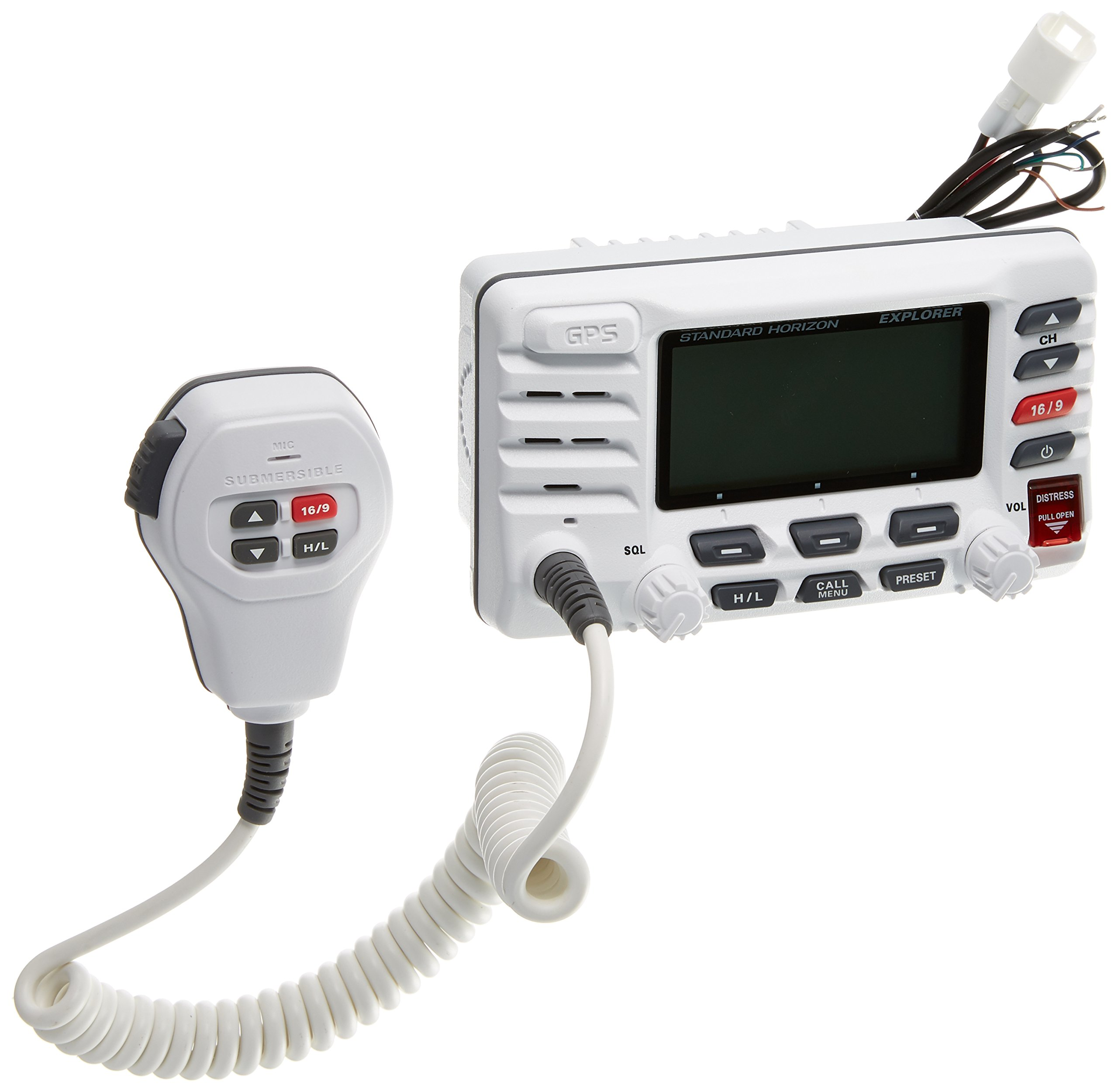 Standard Horizon GX1700W Standard Explorer GPS VHF Marine Radio - White by Standard Horizon