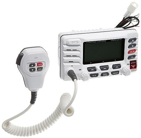 standard horizon gx1700w standard explorer gps vhf marine radio white
