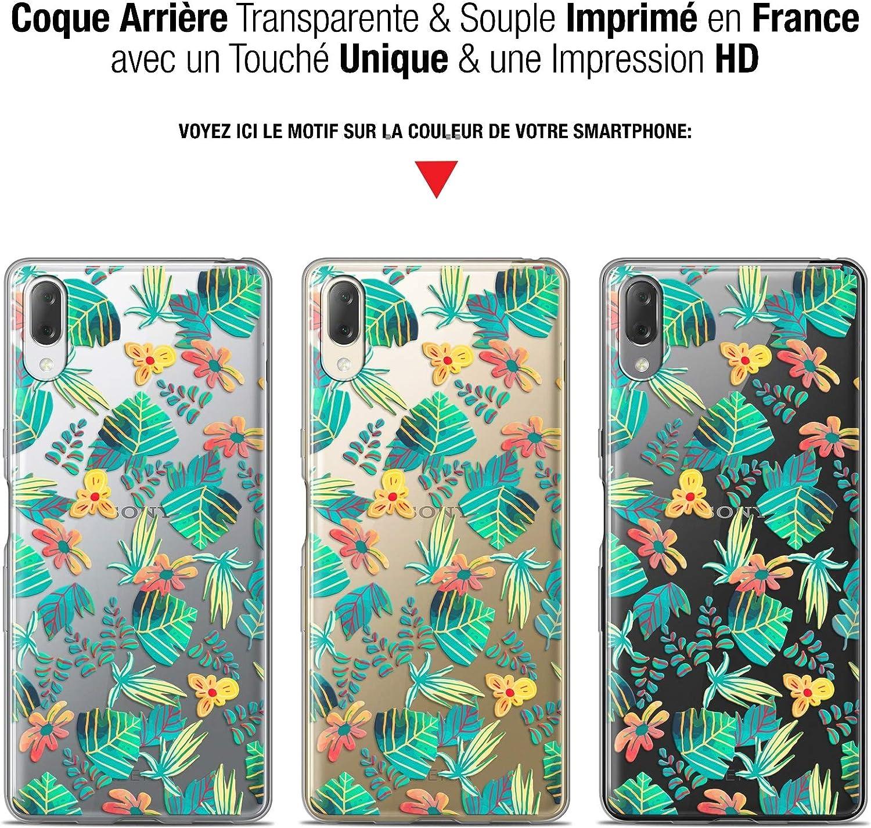 Imprim/é en France - Nouvelle Collection - Souple - Antichoc Caseink Coque pour Sony Xperia L3 Couleurs des Tropiques Gel HD 5.7
