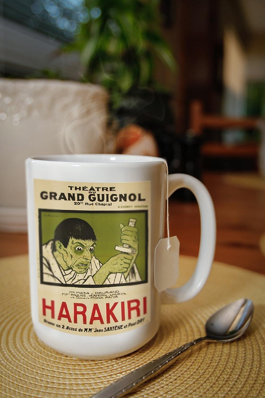Amazon.com: Grand Guignol - Harakiri Vintage Poster (Artist: Barrere) France c. 1919 (15oz White Ceramic Mug): Posters & Prints