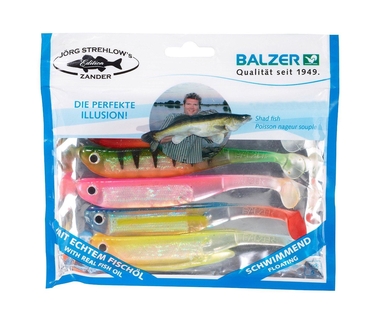 5 Stück Balzer Kauli Gummifisch 9 cm 5 Farben ! schwimmend