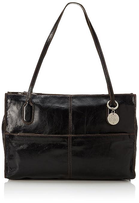 6890b194c1ff Hobo Friar Shoulder Bag Black Vintage Leather One Size  Amazon.ca  Shoes    Handbags