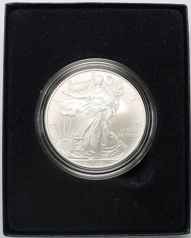 2008 W ***PROOF*** SILVER AMERICAN EAGLE COIN WITH ORIGINAL BOX /& COA