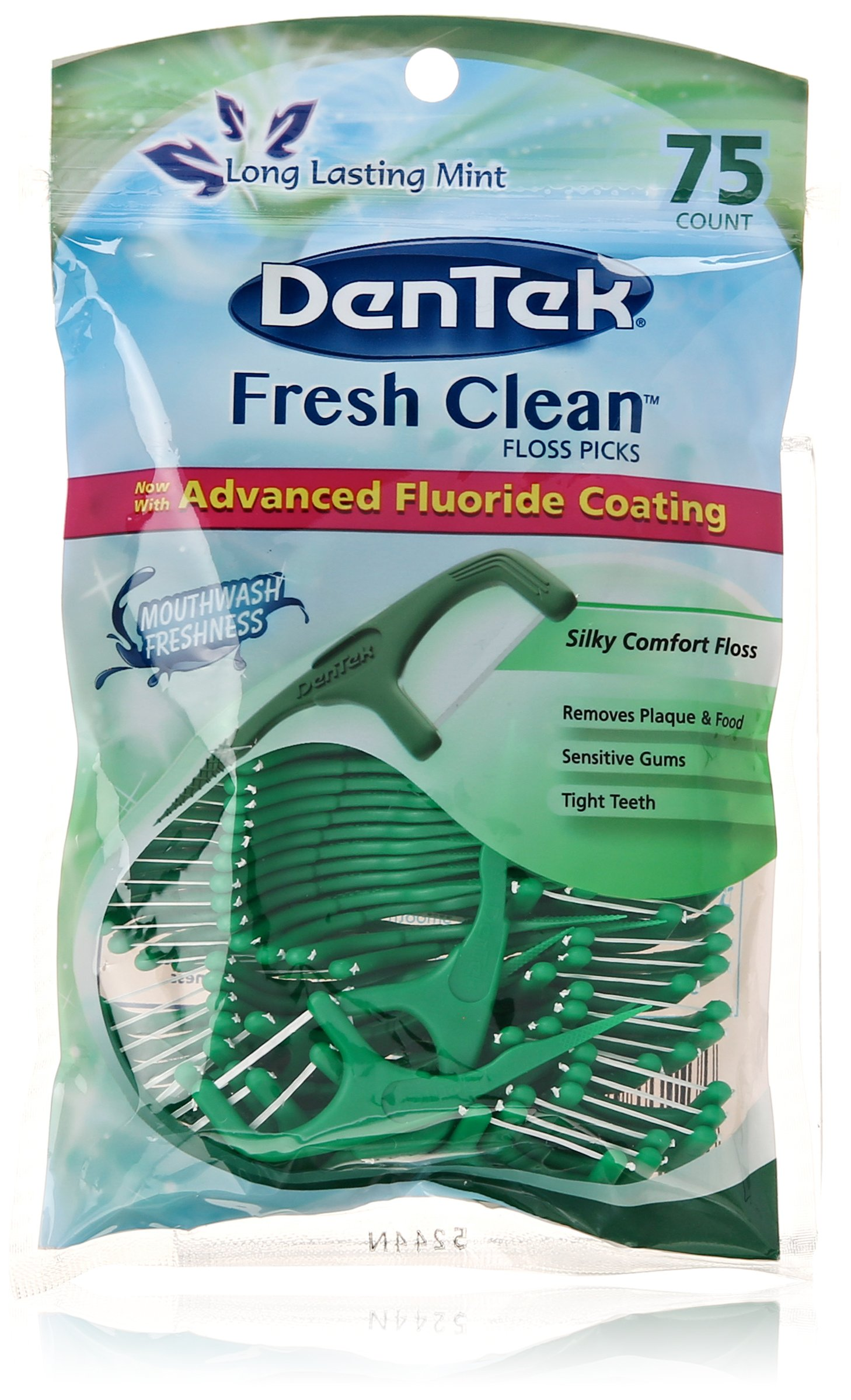 DenTek Fresh Clean Floss Pick, 75 Count