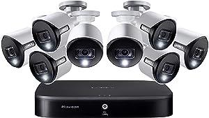 Lorex Smart 2K/4K Super Ultra HD Active Deterrence Weatherproof Security System, 8 x 2K Ultra HD Cameras w/Active Deterrence, Color Night, 2TB Security Grade Hard Drive, 8-Channel 4K DVR