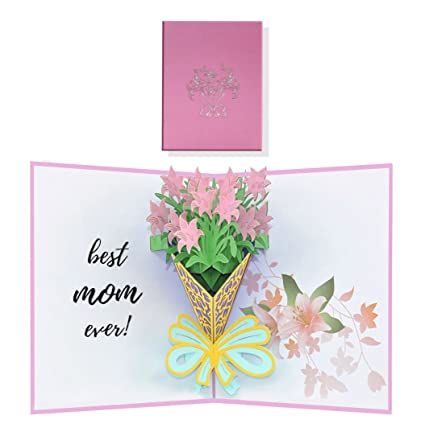 Amazon lily flower pop up card 3d greeting cards for mothers lily flower pop up card 3d greeting cards for mothers elegant greeting cards for m4hsunfo