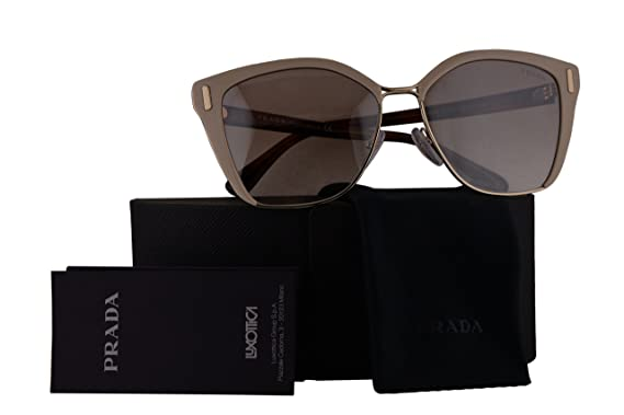 5c9bbaede1 Prada Authentic Sunglasses PR56TS Light Brown Pale Gold w Brown Mirror  Gradient Silver Lens VHR4O0 SPR56T PR 56TS SPR 56T (57mm)  Amazon.co.uk   Clothing