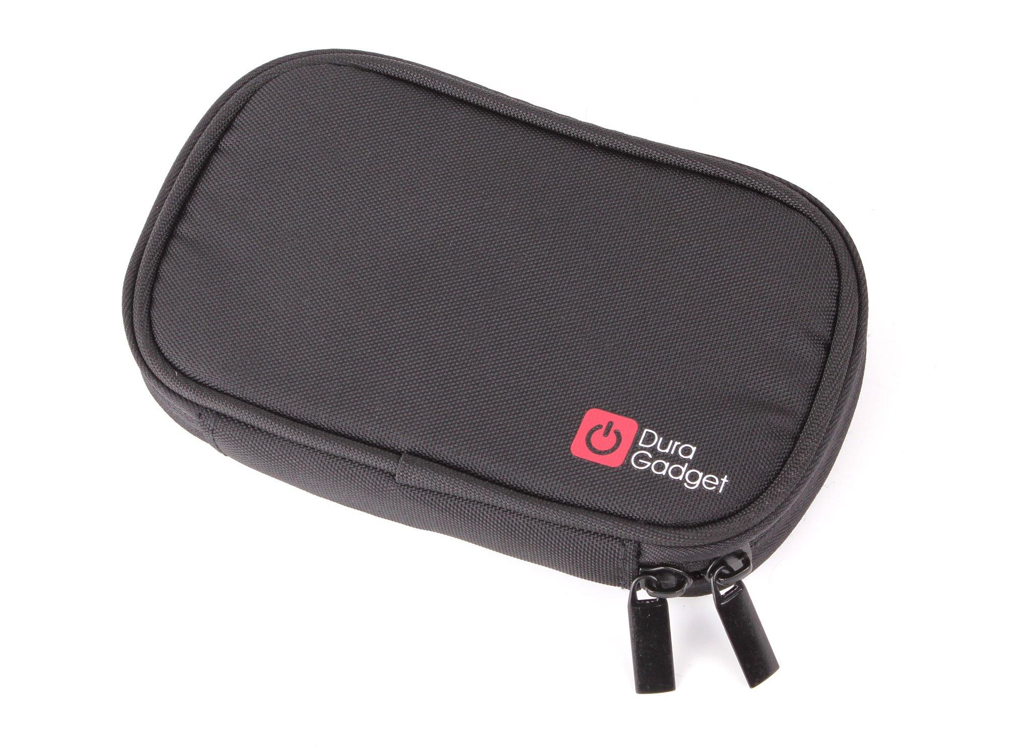 DURAGADGET Handy Garmin Satnav Case - Premium Quality Water Resistant Memory Foam Travel Case with Dual Zips & Belt Loop for Garmin Nuvi 2539LMT, Garmin nuvi 2407, Garmin nuvi 2467LM, Garmin nüvi 2517LM, Garmin nüvi 2545LMT & Garmin Dezl 570 LMT-D 5-Inc