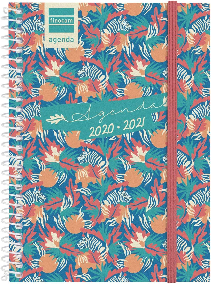 Finocam - Agenda Curso 2020-2021 Octavo-120x164 Semana Vista Apaisada Secundaria Jungle Español