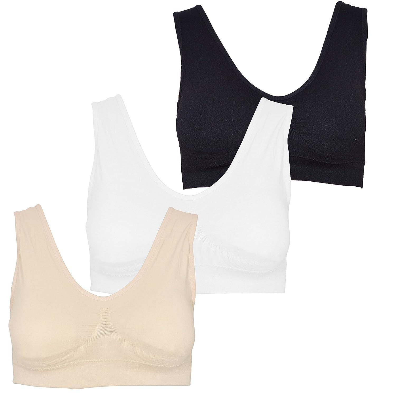 Beurlike Womens Seamless Sports Bra Wirefree Padded High Impact Yoga Gym Bra