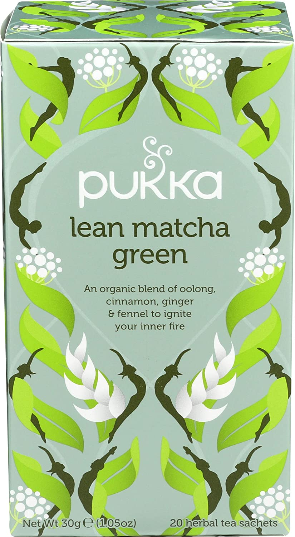 PUKKA HERBS Organic Green Matcha Lean Herbal Tea, 20 EA