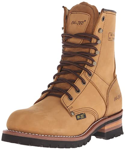 Womens Ad Tec Women's 9 Steel Toe Logger Brown Work Boot Retail Size 37