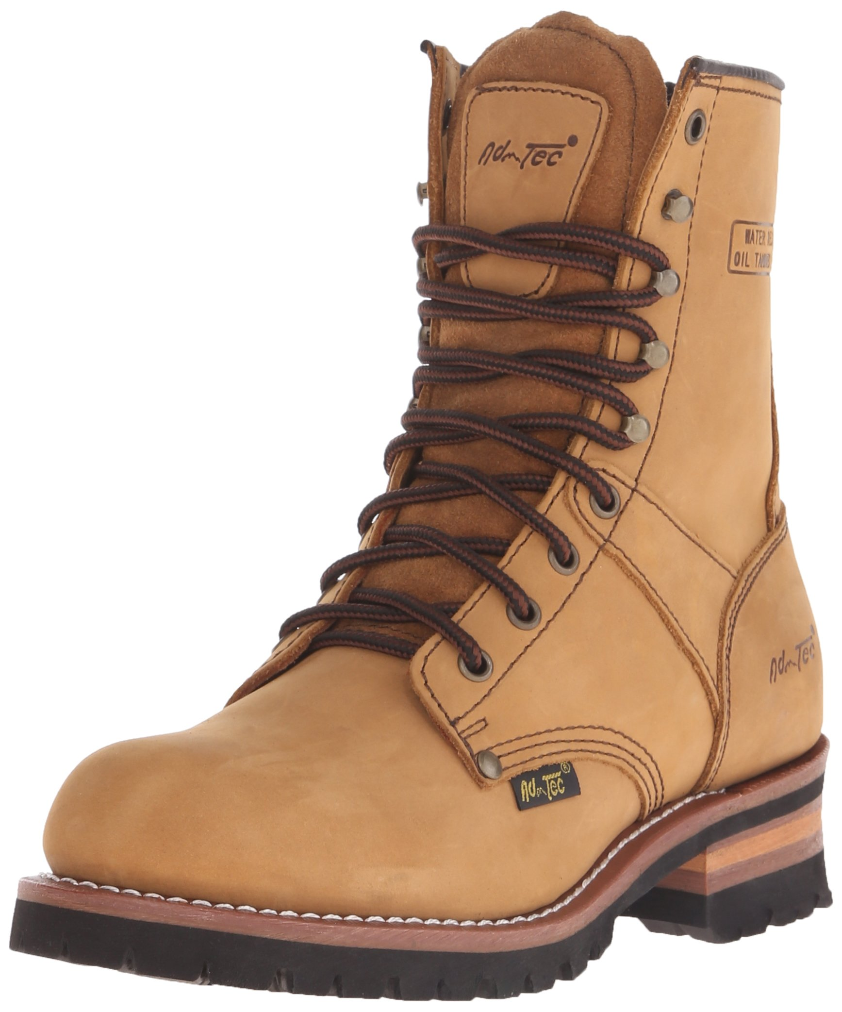 Adtec Men's 9 inch Logger Boot, Brown, 9.5 M US