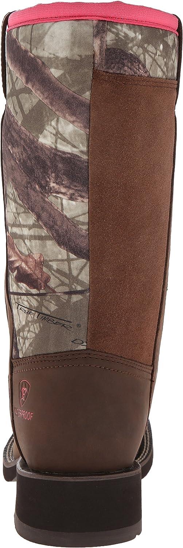 ARIAT Damen Fatbaby Cowboy Stiefel, Gebräbtes Kupfer Palm Brown Camouflage Neopren