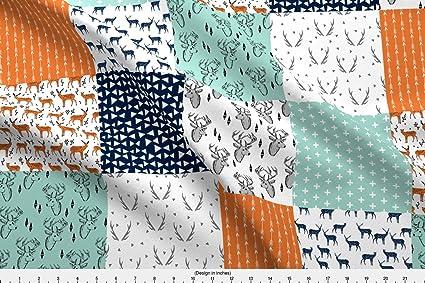 Tejido, Diseño de ciervo – ciervo edredón tela/Patchwork de frutos Quilt Tela wholecloth